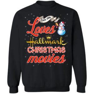 This Girl Loves Hallmark Christmas Movies sweater