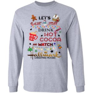 Hallmark Let's Bake Stuff Drink Hot Cocoa and Watch Christmas Movies ls
