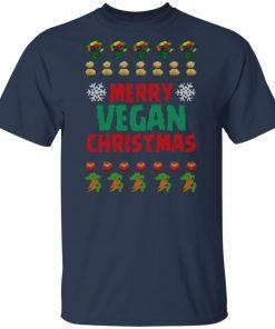 Merry vegan christmas ugly funny shirt