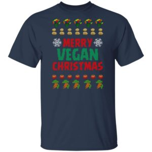 Merry vegan christmas ugly funny shirt