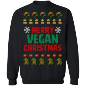 Merry vegan christmas ugly funny sweater