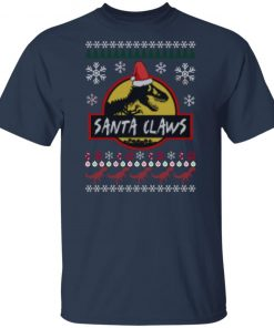 Santa Claws Jurassic Park Ugly Christmas shirt