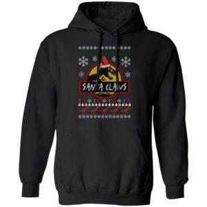 Santa Claws Jurassic Park Ugly Christmas hoodie
