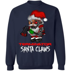 Terminator Santa Claws Christmas sweatshirt