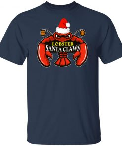 Lobster Santa Claws Christmas Shirt