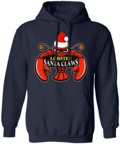 Lobster Santa Claws Christmas hoodie
