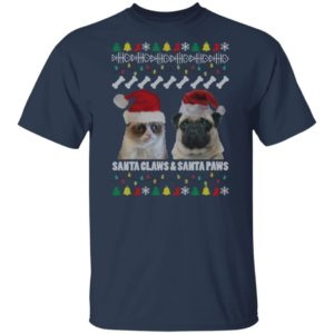 Santa Claws and Santa Paws Christmas Ugly shirt