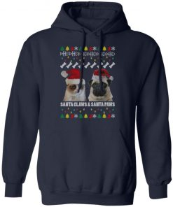 Santa Claws and Santa Paws Christmas Ugly hoodie