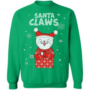 Santa Claws Cute Cat Ugly Christmas sweater