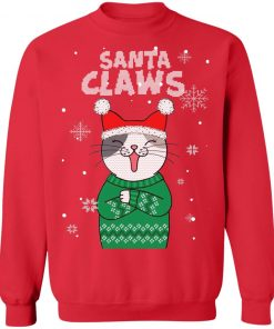 Santa Claws Cat Ugly Christmas sweater