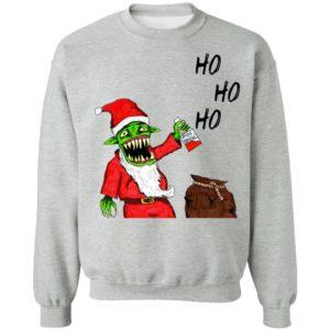 Evil Santa Father Christmas Impression sur toile Sweatshirt