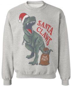 Fat Face Boys' Santa Claw Christmas Dinosaur sweater