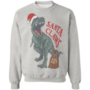Fat Face Boys' Santa Claw Christmas Dinosaur sweater