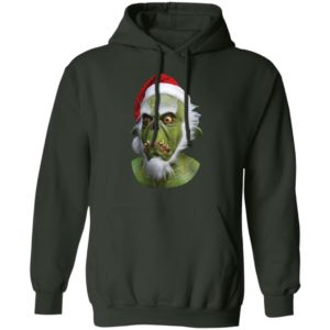 Grinch Green Christmas Santa Claws hoodie