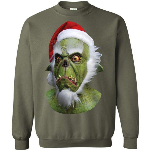 Grinch Green Christmas Santa Claws sweater