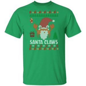 Santa Claws Lobster Ugly Christmas shirt