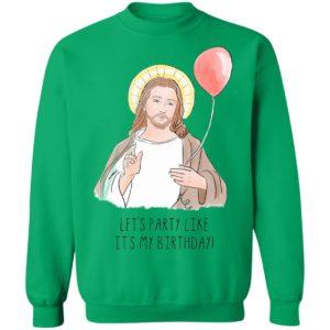 Jesus' Birthday Party Like It's My Birthday Funny Christmas sweater