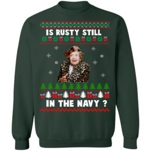 Jim's Whimz Is Rusty still in the Navy Classic Ugly Christmas sweater