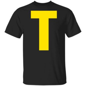 Initials Letter T-Theodore Chipmunk Christmas Shirt