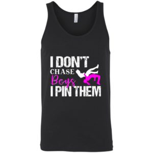 I Don't Chase Boys I Pin Them Wrestling Girls tank
