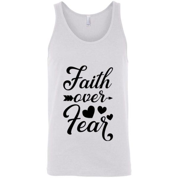 Faith Over Fear White tank