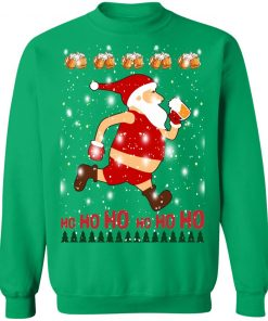 Santa Claus Drinks Beer On Christmas Day hoodie sweater