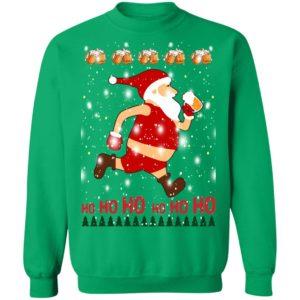 Santa Claus Drinks Beer On Christmas Day hoodie sweater