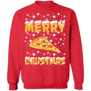 Merry Crustmas Pizza Christmas sweater