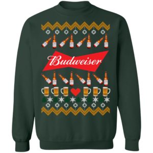 Budweiser Beer Funny ugly Christmas sweater