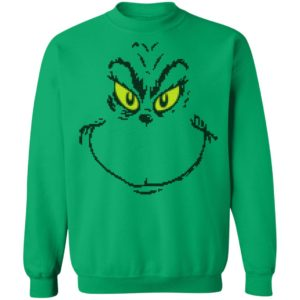 Dr. Seuss Men's Grinch Face Ugly Christmas Sweater Hoodie