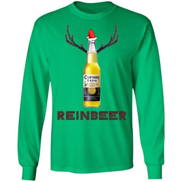Corona Extra Beer Reinbeer Funny Christmas ls