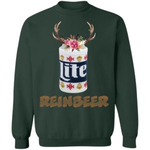 Can Miller Lite Reinbeer Funny Christmas sweater