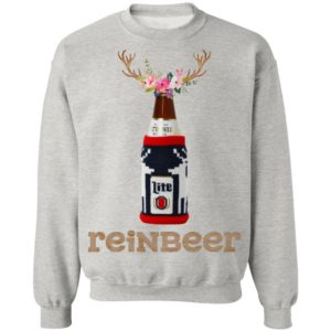 Bottle Miller Lite Reinbeer Funny Christmas sweater