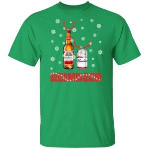Budweiser Reinbeer Funny Beer Reindeer Christmas shirt