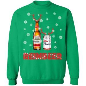 Budweiser Reinbeer Funny Beer Reindeer Christmas sweater