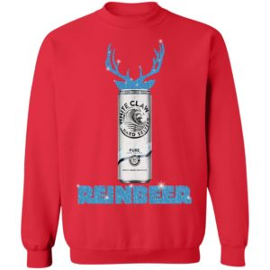 WHITE CLAW PURE HARD SELTZER SPARKLING REINBEER CHRISTMAS sweater