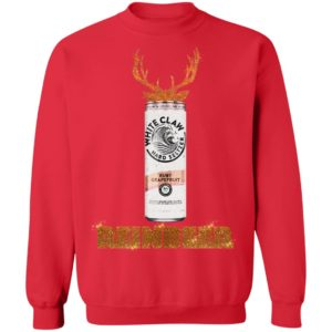WHITE CLAW RUBY GRAPEFRUIT HARD SELTZER SPARKLING REINBEER CHRISTMAS sweater