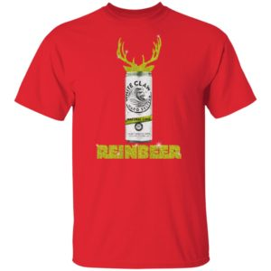 WHITE CLAW NATURAL LIME HARD SELTZER SPARKLING REINBEER CHRISTMAS SHIRT