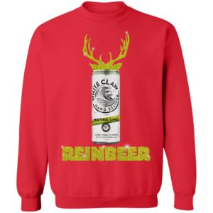 WHITE CLAW NATURAL LIME HARD SELTZER SPARKLING REINBEER CHRISTMAS sweater
