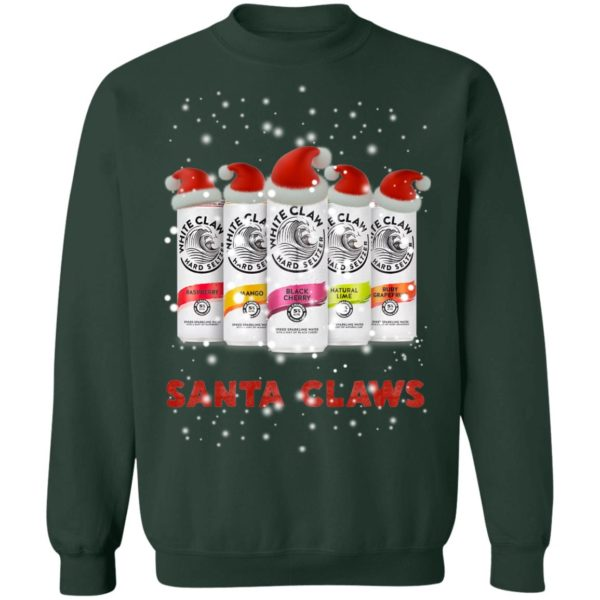WHITE CLAW SANTA CLAWS HARD SELTZER CHRISTMAS sweater