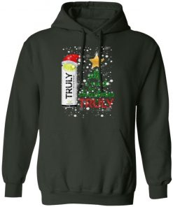 Lime All I Want For Christmas is Truly Hard Seltzer hoodie