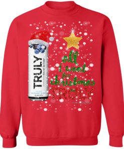 Blueberry and Acai All I Want For Christmas is Truly Hard Seltzer Sweater