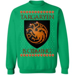 House Targaryen Game of thrones Christmas Santa Is Coming Sweatshirt