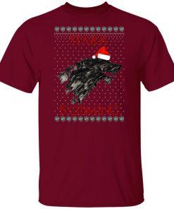 House Logos Stark Game of thrones Christmas Santa Is Coming Shirt