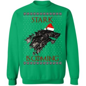 House Logos Stark Game of thrones Christmas Santa Is Coming Sweatshirt