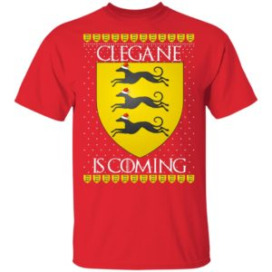 House Clegane Game of thrones Christmas Santa Is Coming shirt