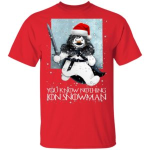 Game of Thrones Christmas You Know Nothing Jon Snowman GOT Funny shirt