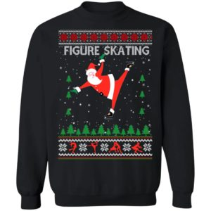 Figure Skating Ugly Christmas Sweater