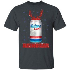 Natural Light Reinbeer Christmas Funny shirt