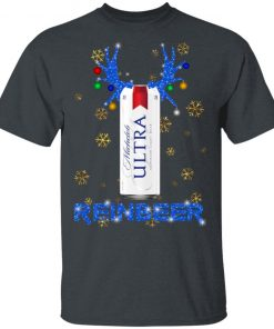 Michelob Ultra Superior Light Beer Reinbeer Christmas Funny shirt